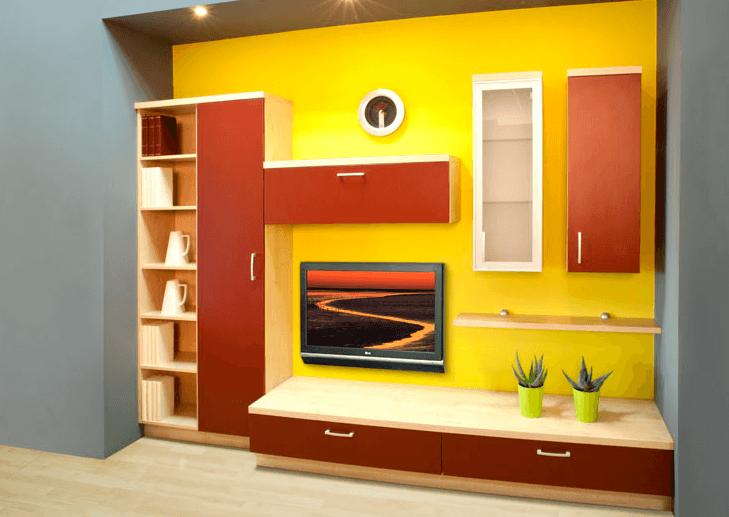 dnevne sobe žive barve
