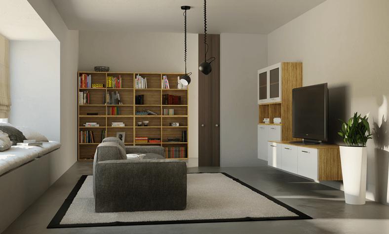 vgradne omare za dnevno sobo
