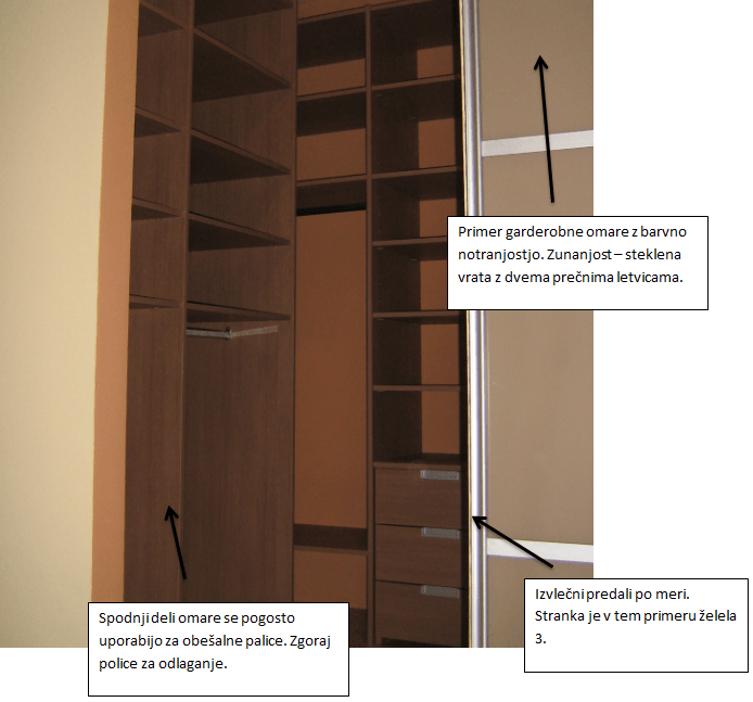 postavitev kotne vgradne omare