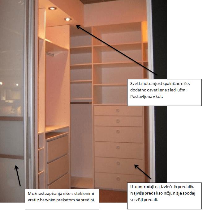 kotne vgradne omare za garderobno sobo