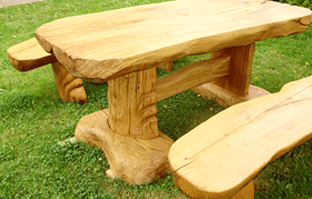 poceni lesene vrtne garniture