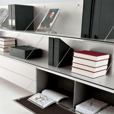 Nekaj primerov knjižnih regalov za dnevne sobe