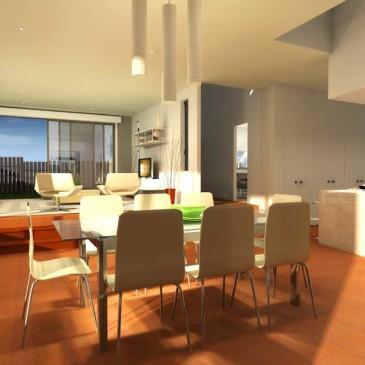 Primer predloga notranje razporeditve modernega stanovanja