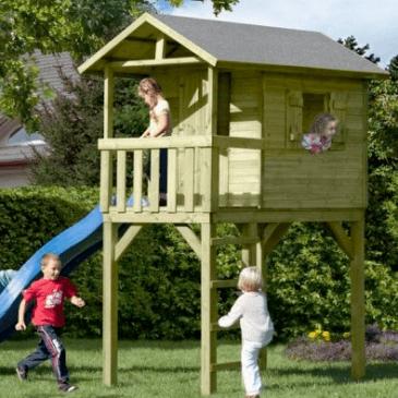 Primeri lesenih hišk za otroke