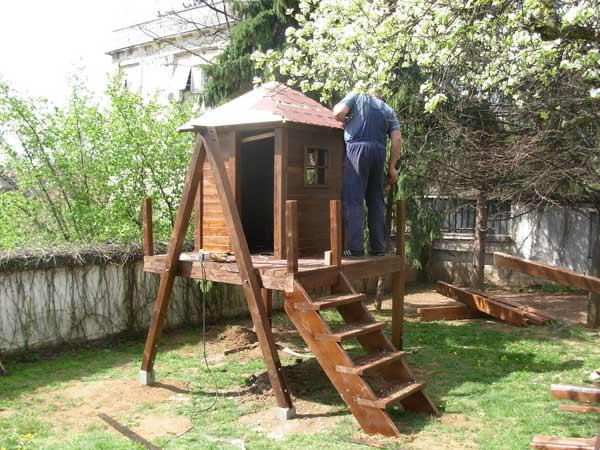 izdelovanje lesene hiše