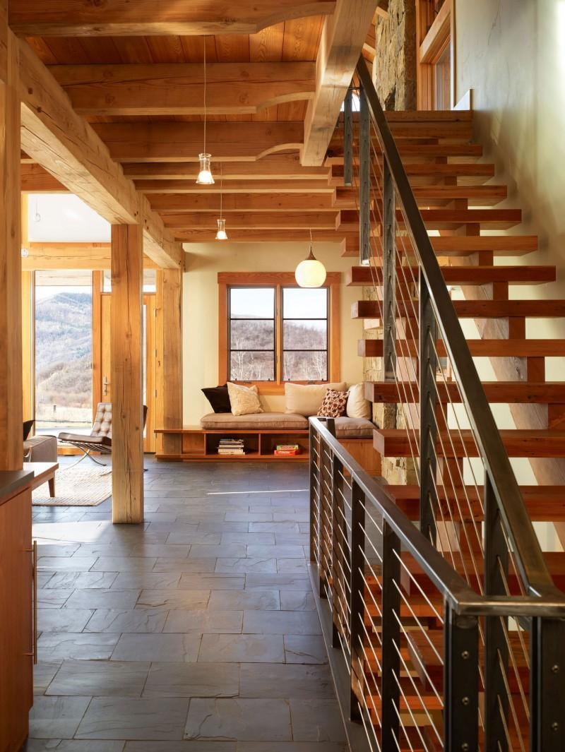 lesene stopnice lesena podkonstrukcija