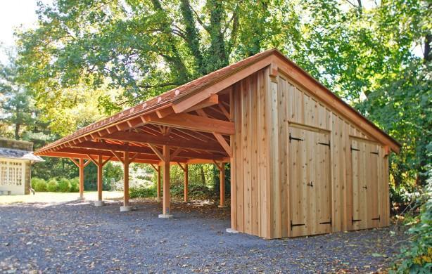 ugodna izdelava lesenih nadstreškov