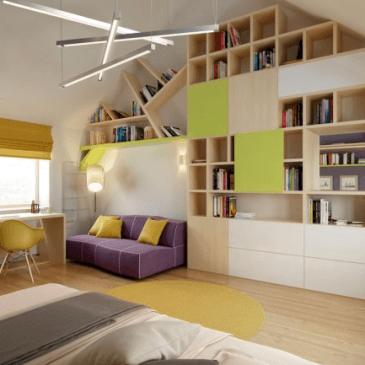 Ideje in 3d predlogi za opremljanje mladinskih sob