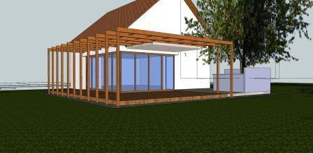Izris predloga za postavitev zunanje terase