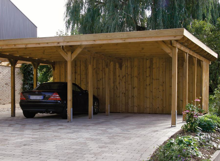izdelava lesenih nadstreškov za avto