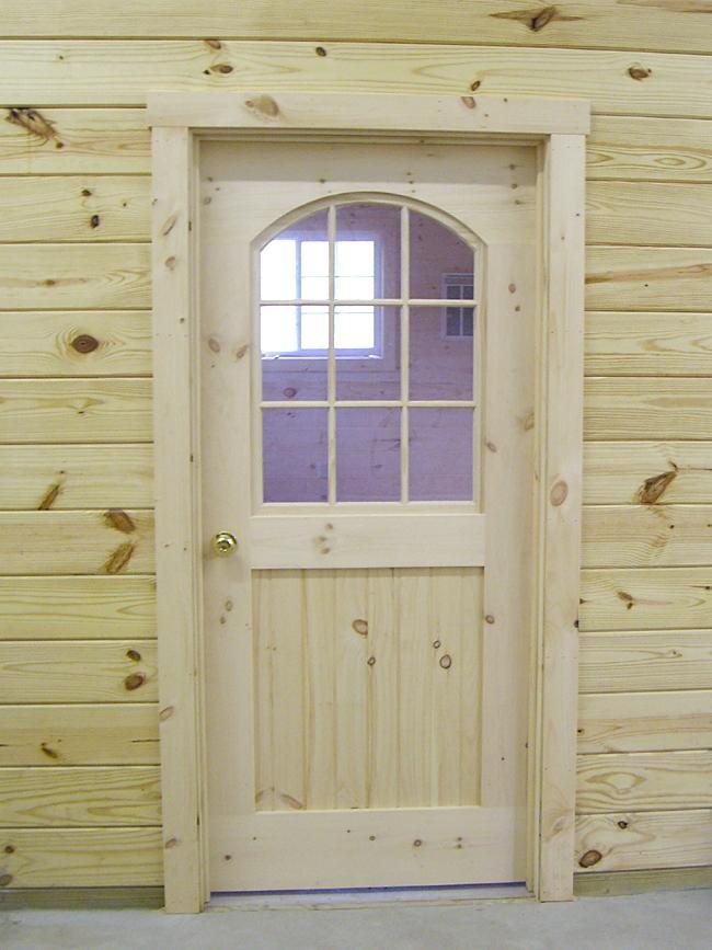 vhodna vrata lesena s stekli