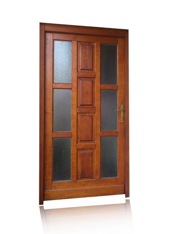 Vhodna vrata v kombinaciji z motnim steklom