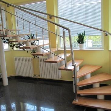 4 primeri izdelave zavitih stopnic