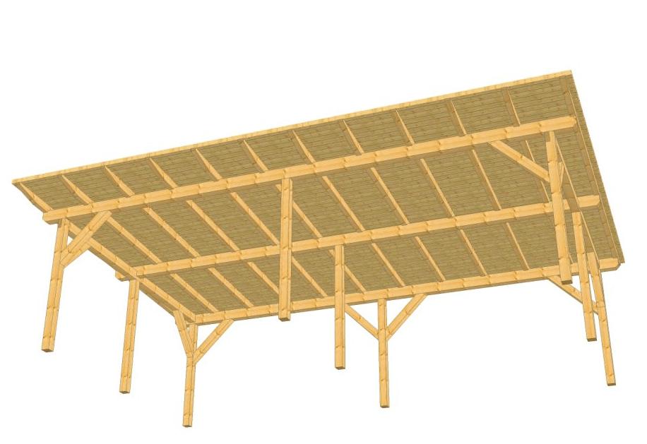 leseni nadstrešek prednja stran
