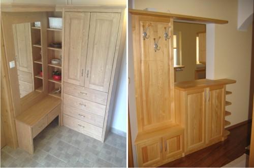 2 primera predsob iz masivnega lesa