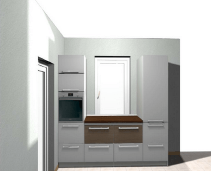 3d vizualizacija idejnega projekta kuhinje - desni del - okno