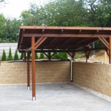4 primeri preprostih lesenih nadstreškov