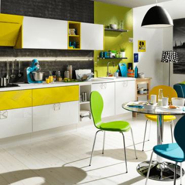 Opremljanje umivalnega dela kuhinje v modernem stilu