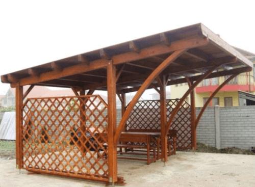 moderni leseni nadstreški