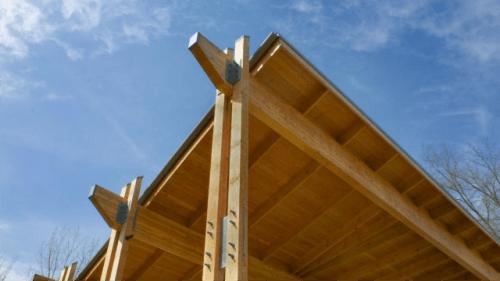 Moderni leseni nadstreški za moderen izgled okolice hiše