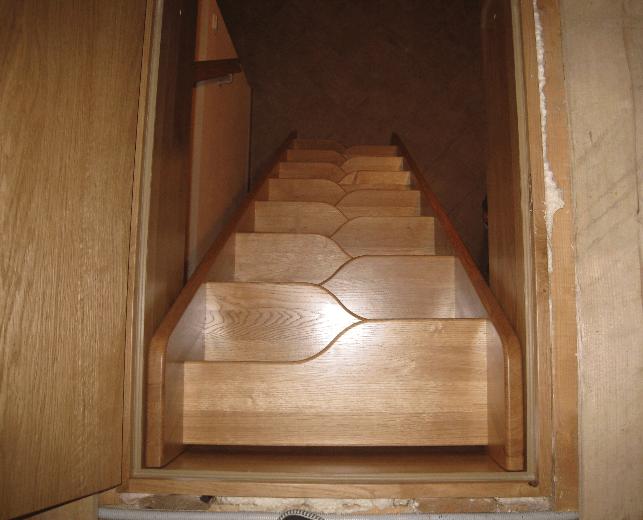 strme račje stopnice od zgoraj