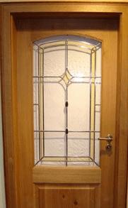 vhodna vrata - dekorirano steklo