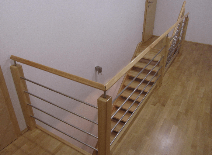 izdelava lesenega stopnišča