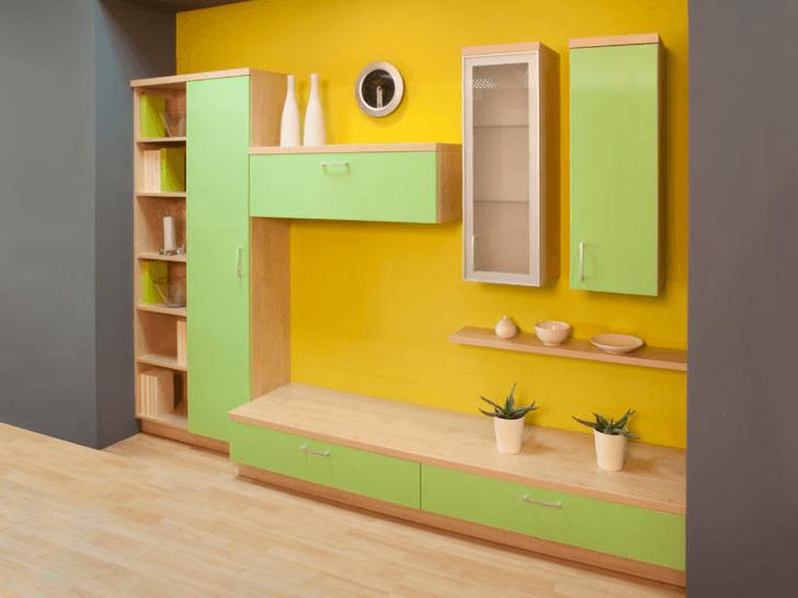Dnevna soba zeleno rumena