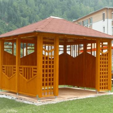 Leseni vrtni paviljoni – 4 najbolj pogosto uporabljani primeri
