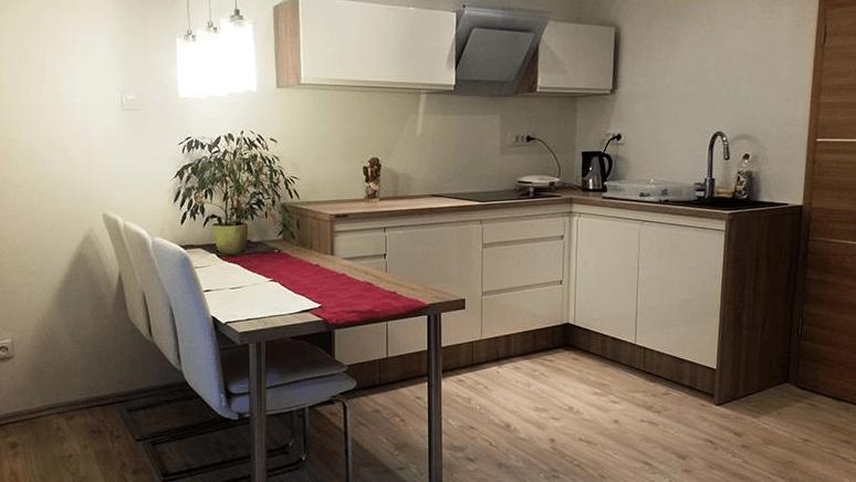manjša kuhinja z jedilnico