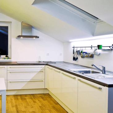 Če iščete rešitev za kuhinjo v mansardi
