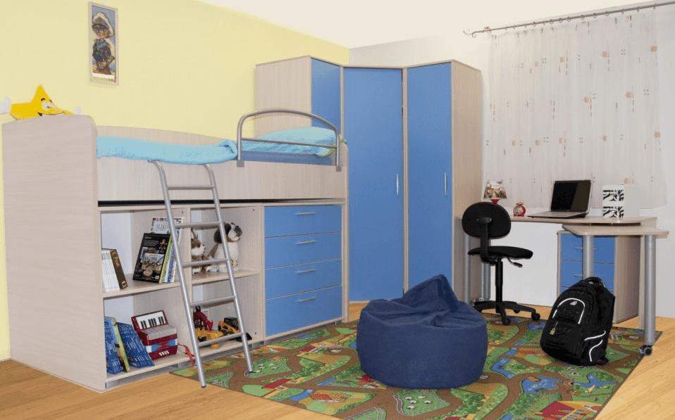 otroške sobe s pogradom
