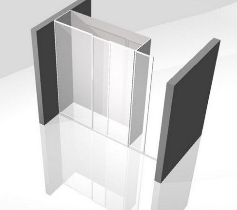 pregradna omara z drsnimi vrati