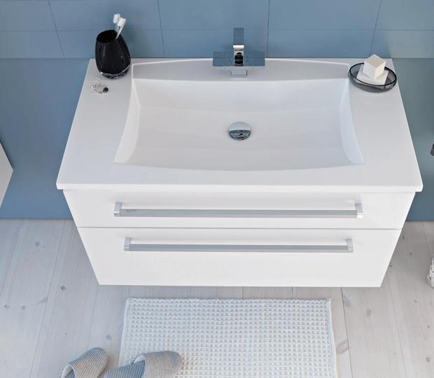 vgradni umivalnik z dvema izvlečnima predaloma