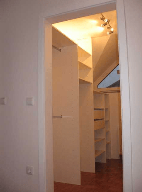 garderobna soba klasični prehod