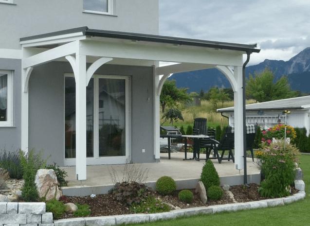 moderno pokrita terasa