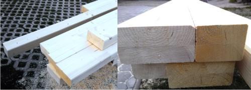 nadstrešek iz lepljenega lesa