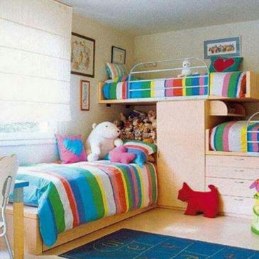 Ideje, kako v otroških sobah, dodati pridih mavrice