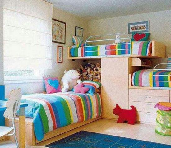otroške sobe mavrica posteljnina