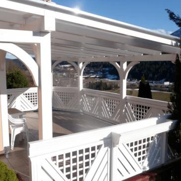 Primeri pokritih teras za različne namene
