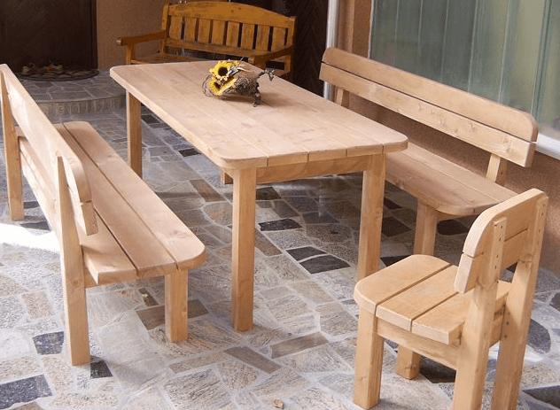 vrtna garnitura miza klopi stol