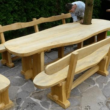 3 modeli zunanjih vrtnih miz in klopi