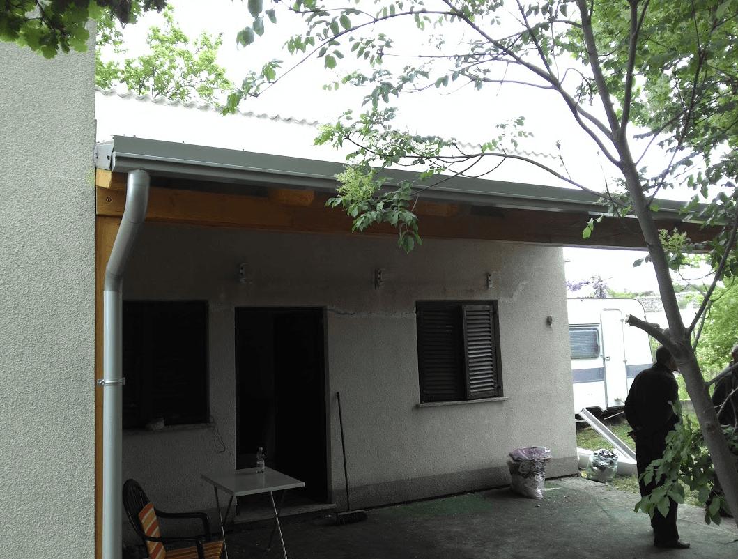 leseni nadstrešek za teraso