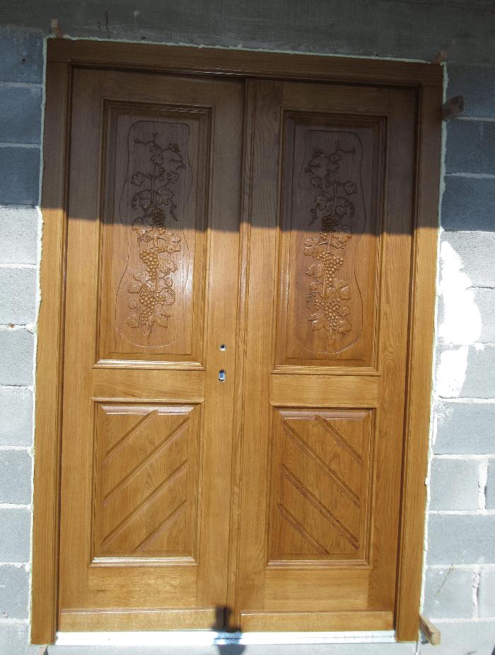 masivna lesena vrata novogradnja