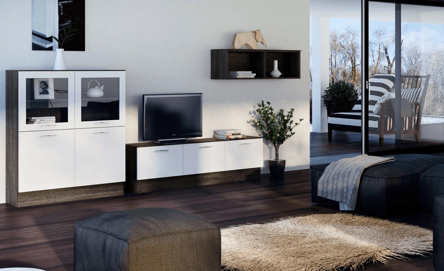minimalistična dnevna soba po meri