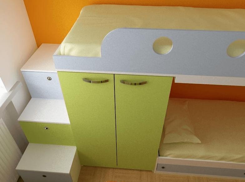 otroško pohištvo detajl
