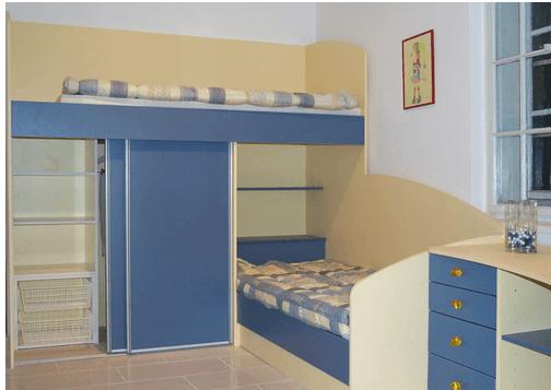 Opremljanje otroške sobe za fante