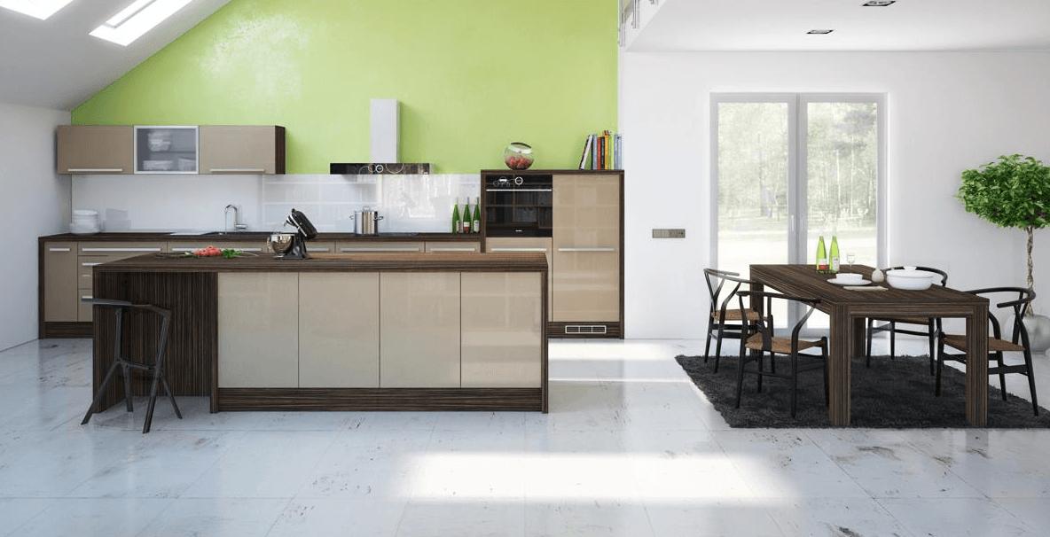 ureditev kuhinje jedilnice in dnevne sobe