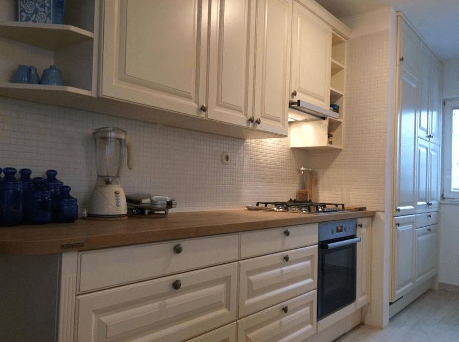 enovrstna postavitev kuhinje
