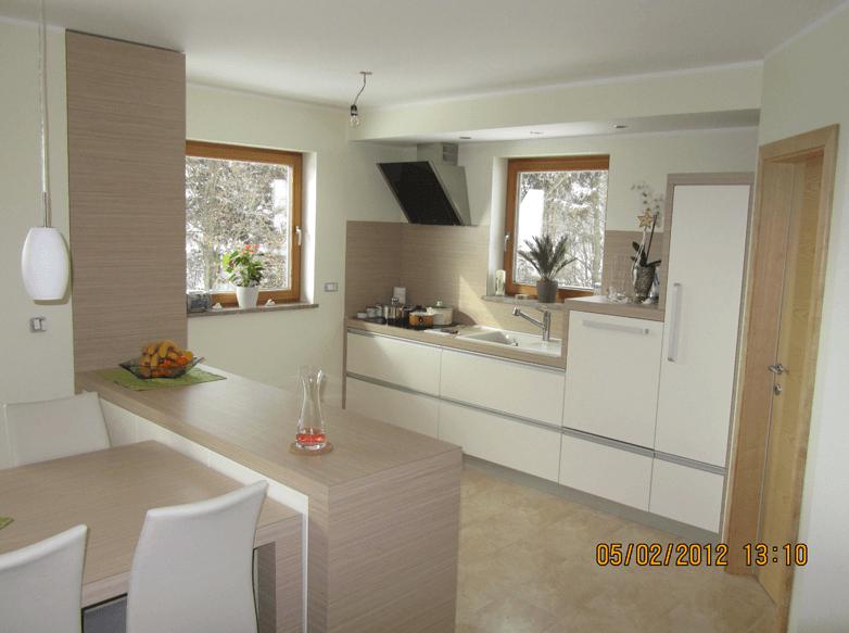 kuhinja in jedilnica v enem prostoru